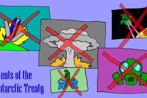 南極条約 NBC兵器 コロニー落とし 月面攻撃 禁止
